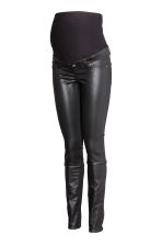MAMA Skinny Coated Jeans - Black - Ladies | H&M 2