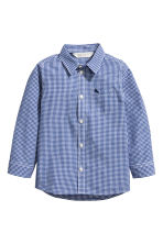 Cotton shirt - Blue/White checked - Kids | H&M 2