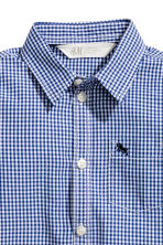 Cotton shirt - Blue/White checked - Kids | H&M 3
