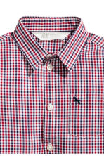 Cotton shirt - Red/Blue checked - Kids | H&M CN 3
