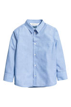 Easy-iron shirt - Light blue marl - Kids | H&M 2