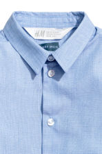 Easy-iron shirt - Light blue marl - Kids | H&M 3