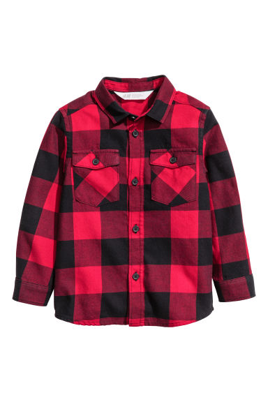 Flannel shirt - Red/Checked -  | H&M