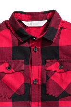 Flannel Shirt - Red/plaid - Kids | H&M CA 3