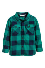 法蘭絨襯衫 - Green/Checked -  | H&M 2