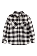 Flannel shirt - Black/Checked - Kids | H&M 2