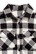 Flannel shirt - Black/Checked - Kids | H&M 3