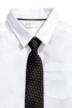 Shirt with a tie/bow tie - White/Tie -  | H&M 3