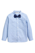 Shirt with a tie/bow tie - Blue/Bow tie - Kids | H&M 2