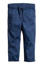 Pull-on cotton trousers - Dark blue - Kids | H&M CN 2