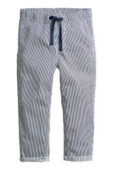 Pull-on cotton trousers