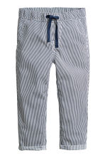 Pull-on cotton trousers - Dark blue/Striped -  | H&M CA 2