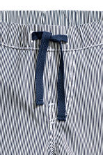 Pull-on cotton trousers - Dark blue/Striped -  | H&M CA 3