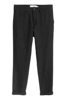 Cotton flannel trousers