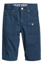 Cotton clamdiggers - Dark blue - Kids | H&M 1