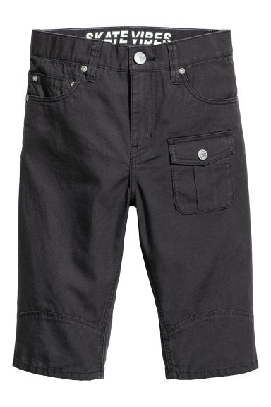 Cotton clamdiggers - Black - Kids | H&M 1