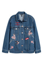 Embroidered denim jacket - Dark denim blue - Ladies | H&M 2