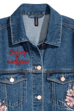 Embroidered denim jacket - Dark denim blue - Ladies | H&M 4