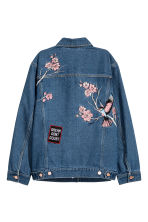 Embroidered denim jacket - Dark denim blue - Ladies | H&M 3