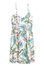 Short dress - White/Leaves - Ladies | H&M 2