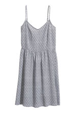Short dress - White/Black patterned - Ladies | H&M CN 2