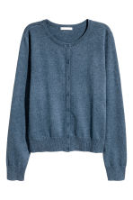 Cotton cardigan - Blue marl - Ladies | H&M 2