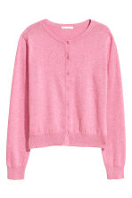 Cotton cardigan - Pink melange - Ladies | H&M IE 2