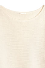 Ribbed jumper - Natural white - Ladies | H&M 3