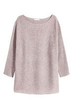 Ribbed jumper - Light grey marl - Ladies | H&M CA 2