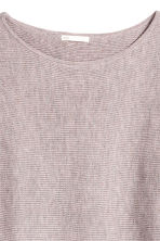 Ribbed jumper - Light purple marl - Ladies | H&M IE 3