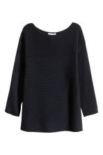 Ribbed jumper - Dark blue - Ladies | H&M CN 2