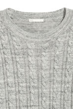Cable-knit jumper - Grey marl - Ladies | H&M 3