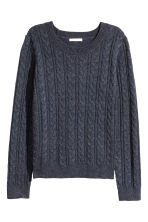 Cable-knit jumper - Dark blue - Ladies | H&M 2