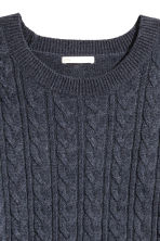 Cable-knit jumper - Dark blue - Ladies | H&M 3