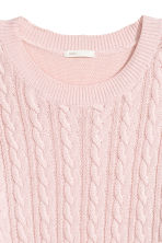 Cable-knit jumper - Light pink - Ladies | H&M GB 2