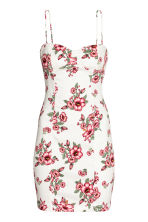 Short dress - White/Floral - Ladies | H&M 2