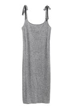 Calf-length jersey dress - Grey marl - Ladies | H&M 2