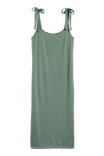 Calf-length jersey dress - Khaki green - Ladies | H&M 2