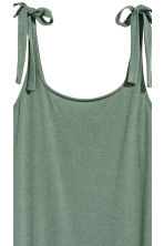 Calf-length jersey dress - Khaki green - Ladies | H&M 3