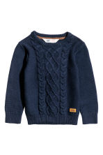 Knitted jumper - Dark blue - Kids | H&M CN 2