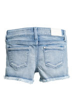 Printed denim shorts - Denim blue/Star - Kids | H&M CN 3