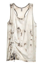Drawstring vest top - Light beige/Pattern - Ladies | H&M 2