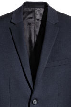 Wool jacket Slim fit - Dark blue - Men | H&M 4