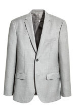 Wool jacket Slim fit - Light grey - Men | H&M 2