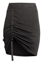 Drawstring detail skirt - Dark grey - Ladies | H&M 2