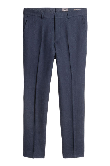 Suit trousers Slim fit - Dark blue - Men | H&M CA