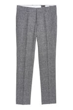 Suit trousers Slim fit - Black marl - Men | H&M 2