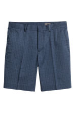 Premium cotton city shorts - Dark blue/Patterned - Men | H&M CA 2