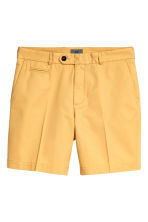 Premium cotton city shorts - Mustard yellow - Men | H&M 2