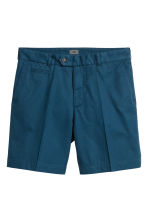 Premium cotton city shorts - Navy blue - Men | H&M CN 2